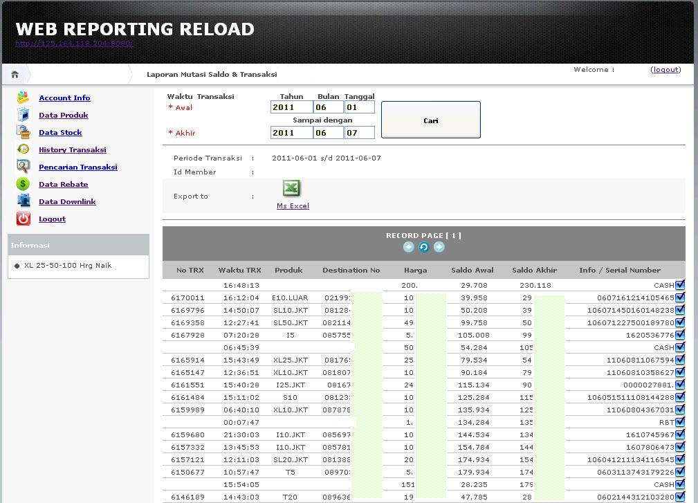 Maestro Pulsa Transaksi Cepat Wuzzz Wuzzz Wuzzzzz Contoh Web Reports